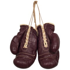 Pair of Vintage Leather Boxing Gloves, circa 1950-1960