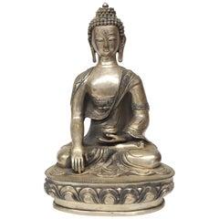 Large White Brass Buddha Statue