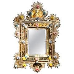 Floral Murano Mirror