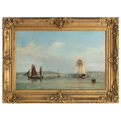 Nicholas Condy, Schooner at Anchor at the Tail of the Bank