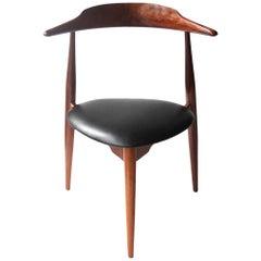 """Set of Four Model Chairs """"Heart FH-4103"""" designed by Hans J. Wegner, Denmark"""