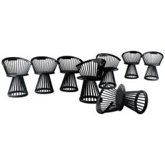"Set of 8 ""Fan"" Dining Chairs Black Designed by Tom Dixon, United Kingdom, 2010"