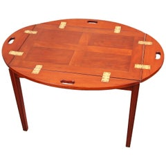 Antique Georgian Mahogany Oval Tray on Stand