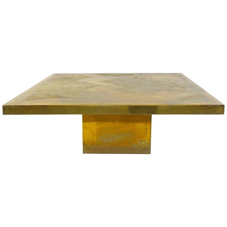 Armand Jonckers Square Coffee Table, 1977
