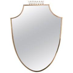 Elegant Brass Mirror, circa 1950, Italy
