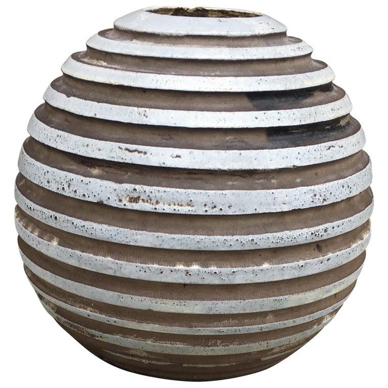 Jean Besnard Art Deco Ceramic Vase, circa 1930