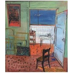Jacqueline Brison (1932-2006), Huile Sur Toile, circa 1960