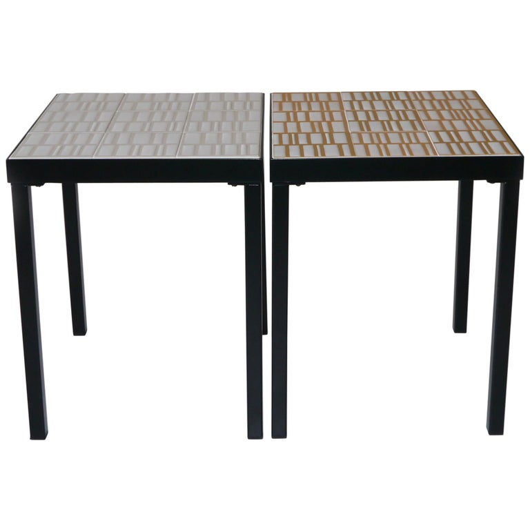 Roger Capron, Pair of Low Tables, France, circa 1960