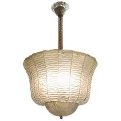 Elegant Murano Beaded Glass Lantern
