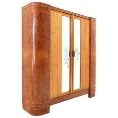Coat Hanger Cabinet with Sliding Doors, 1940s