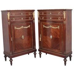 Pair of 19th Century French Mahogany Cabinets