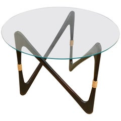 Elegant Italian Coffee Table in the Style of Cesare Lacca, 1950s