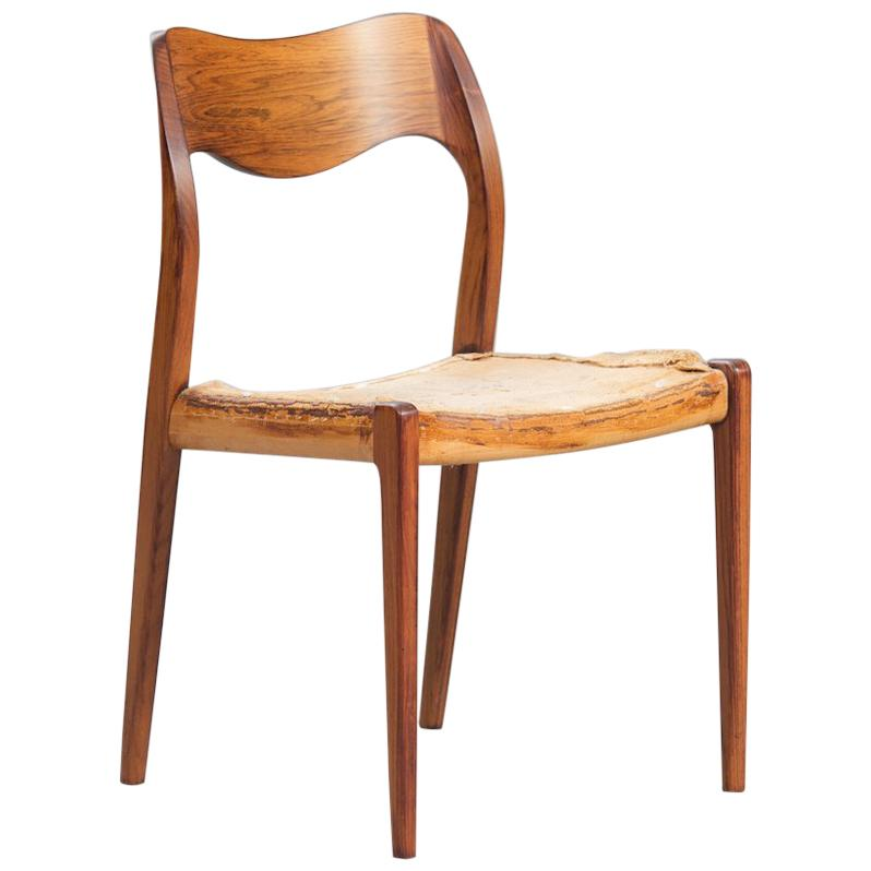 Etonnant Set Of Ten Niels O. Møller Rosewood Dining Chairs, Model 71