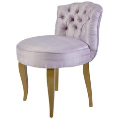 1950s French purple silk Dressing Table Chair