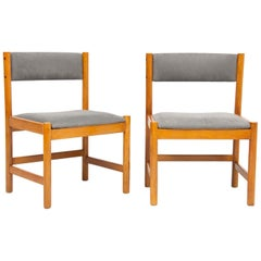Set of Four Midcentury Danish Oak Dining Chairs by Borge Mogensen