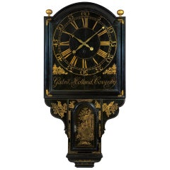 George II Chinoiserie Tavern Clock by Gabril Holland, Coventry