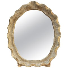 Ornate Vintage Italian Giltwood Vanity Mirror