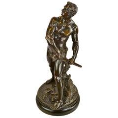 Defense Du Foyer Bronze by Adrien Gaudez
