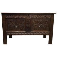 Oak 17th Century Antique Coffer