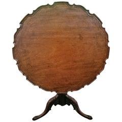 18th Century British Mahogany Pie Crust Tilt-Top Tea Table