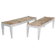 Pair of 19th Century Swedish Gustavian Benches