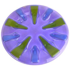 Modernist Glass Plate by Higgins