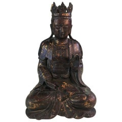 Bronze and Gilt Seated Shrine Buddha