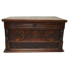 Pine Trunk or Blanket Chest in Original Paint