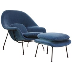 Early Production Eero Saarinen for Knoll Womb Chair and Ottoman