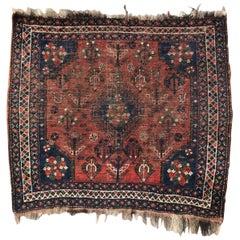 Antique Persian Shiraz Little Rug