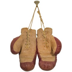 Vintage Hutch Inc. Cincinnati Leather Boxing Gloves, circa 1930-1940