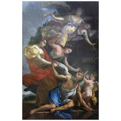 Allegoria, Louis Dorigny 17th Century Oil on Canvas Allegory of Time Painting