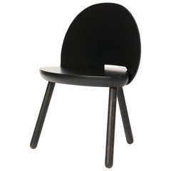 Cinch Chair, Melton Wool, Wood Seat and Eco-Friendly Powder Coated Steel Support