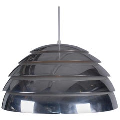 Midcentury Scandinavian Ceiling Lamp Agne Jakobsson Polished Aluminium, 1960s