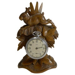Charming Black Forest Pocket Watch Holder, Hare, circa 1900