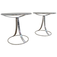 Pair of Gardner Leaver for Steelcase Side Cocktail Tables, Offered by La Porte