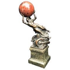 Art Deco Automobile Bronze and Marble Figural Sculpture Trophy, circa 1920