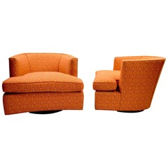 Pair of Swivel Lounge Chairs Designed by Harvey Probber