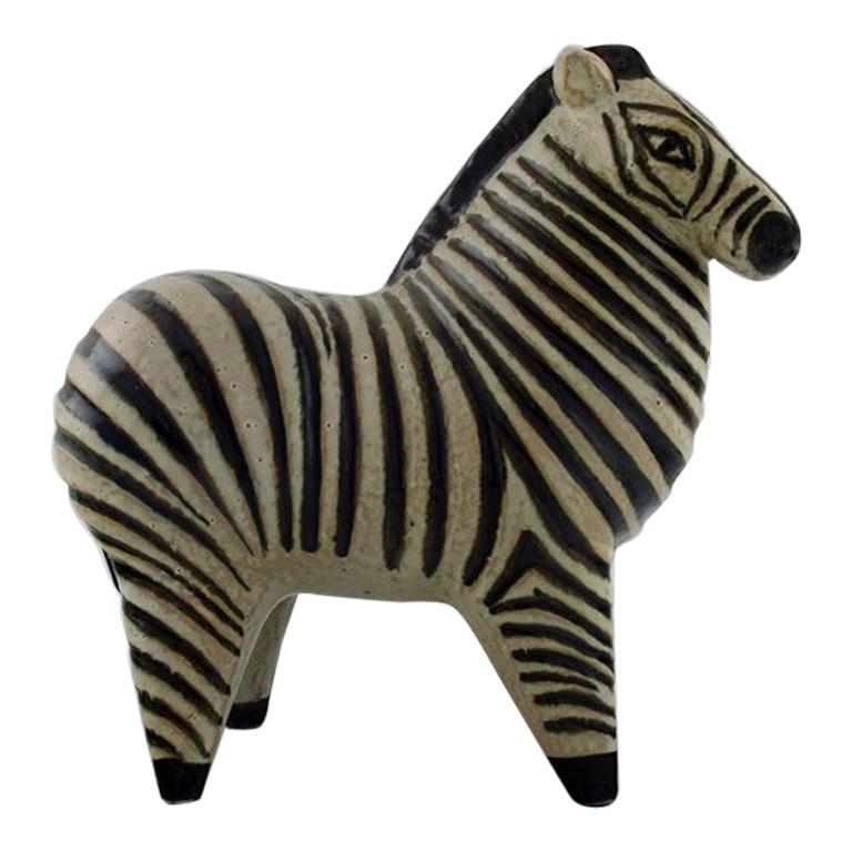 Lisa Larson for Gustavsberg, Rare Zebra in Ceramics