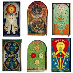 Collection of Six Antique Game Boards, circa 1920-1940