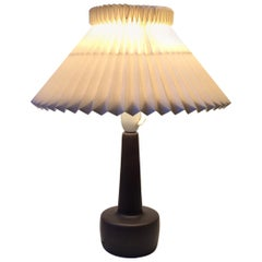 Danish Midcentury Grey Pottery Table Lamp from Søholm, 1960s