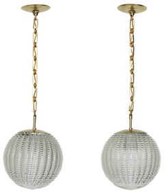Venini Style Pair of Ceiling Pendants