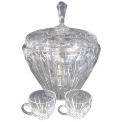 Bohemian Crystal Punch Bowl