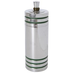 Machine Age Art Deco Chase Gaiety Cocktail Shaker in Rare Green Catalin