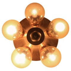 Big Midcentury Wall or Ceiling Lamp, Kamenicky Šenov, Sputnik, 1970s