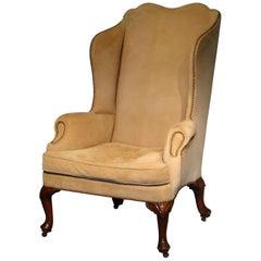 George II English Walnut Wing Armchair, circa 1740