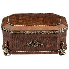 Antique French Jewelry Box by Alphonse Tahan, 19th Century