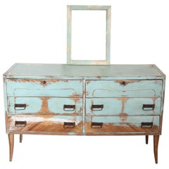 20th Century Italian Vintage Design Lacquered Commode or Chest with Frame
