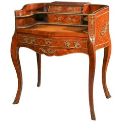 Early 20th Century Louis XV Style Rosewood Inlaid Ladies Secretary
