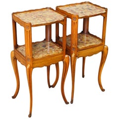 Pair of Marble Top Bedsides by Morison & Co. of Edinburgh
